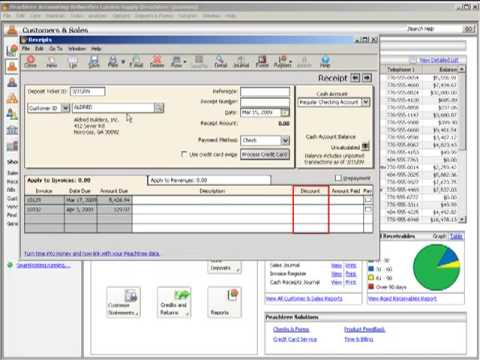 Accounts receivable tutorial sage peachtree basics for for Peachree
