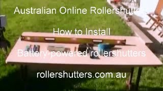 Battery Powered Roller Shutter Installation Rollershutters.com.au