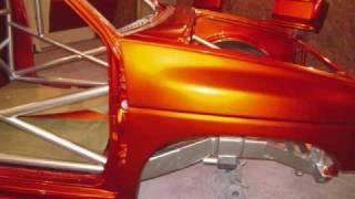 jrt customs Nissan SR20DET GT4088r Powered D21 Hardbody Goes Orange