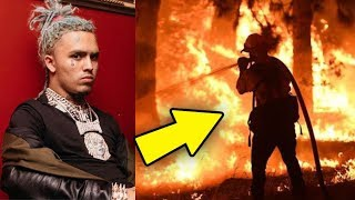 Lil Pump House BURNED DOWN After WILDFIRES in California