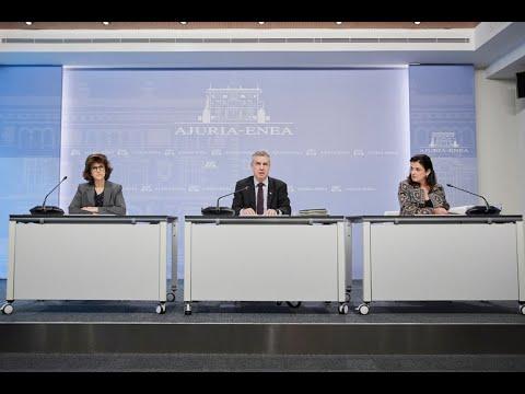 Consejo De Gobierno Del Gobierno Vasco 07-04-2020 // Eusko Jaurlaritzaren Gobernu Kontseilua