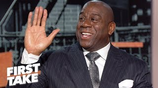 Download I'd love to buy the Lakers – Magic Johnson | First Take Mp3 and Videos