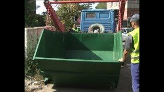 В Рассказово начали устанавливать контейнеры для крупногабаритного мусора