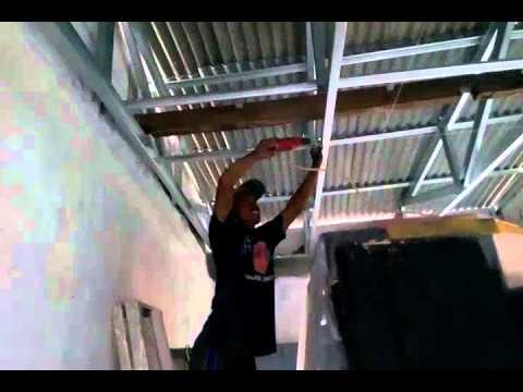 Memasang Plafon Baja Ringan Cara Pemasangan Holow - Youtube
