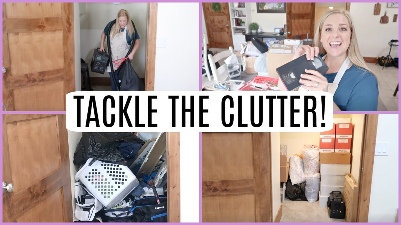 DECLUTTER WITH ME! MOTIVATION TO GET IT DONE!! TACKLE THE CLUTTER!
