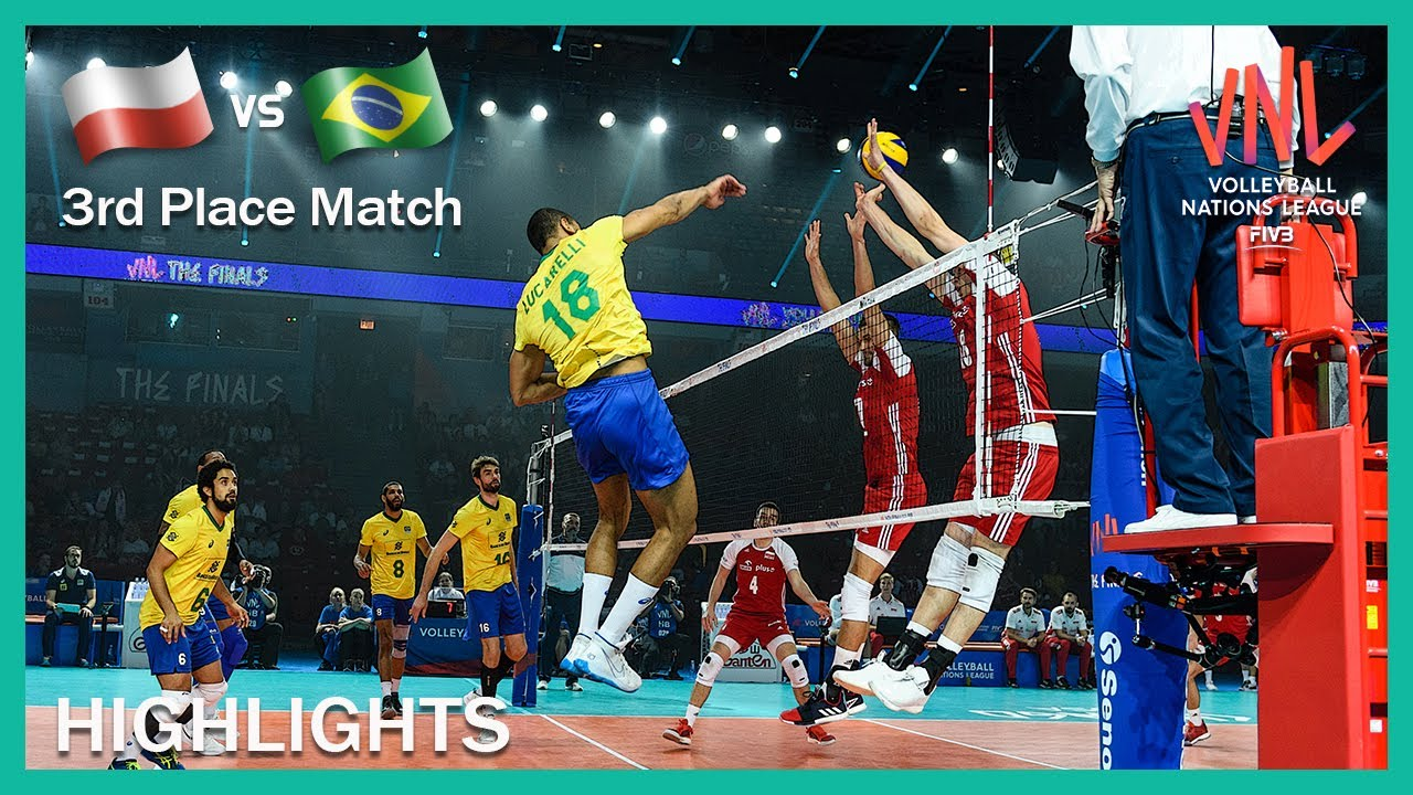 Download Poland vs Brazil   Highlights   14 Jul   3rd Place Match   Men's VNL 2019