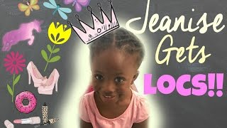 Jeanise Gets Locs!! | My Toddlers Starter Locs using Two Strand Twists