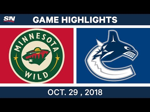 NHL Highlights | Wild vs. Canucks - Oct. 29, 2018