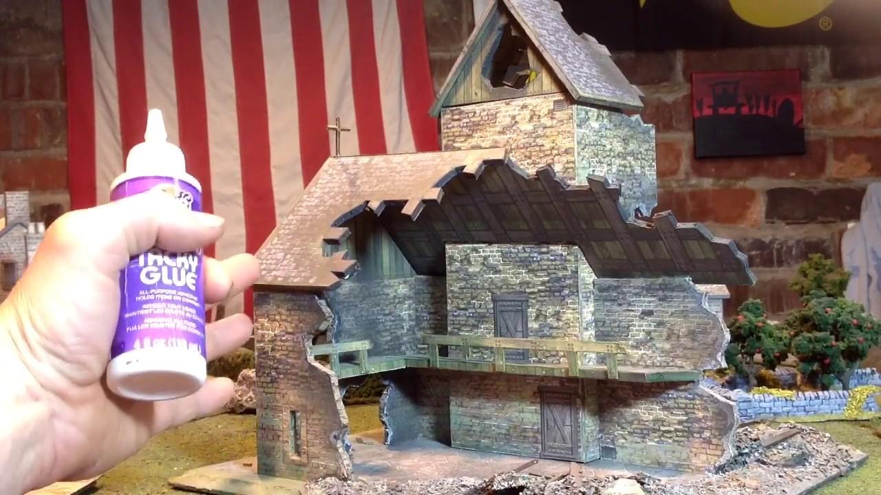 Part #1 Dave Graffam Ruined Church foam core conversion for Bolt Action