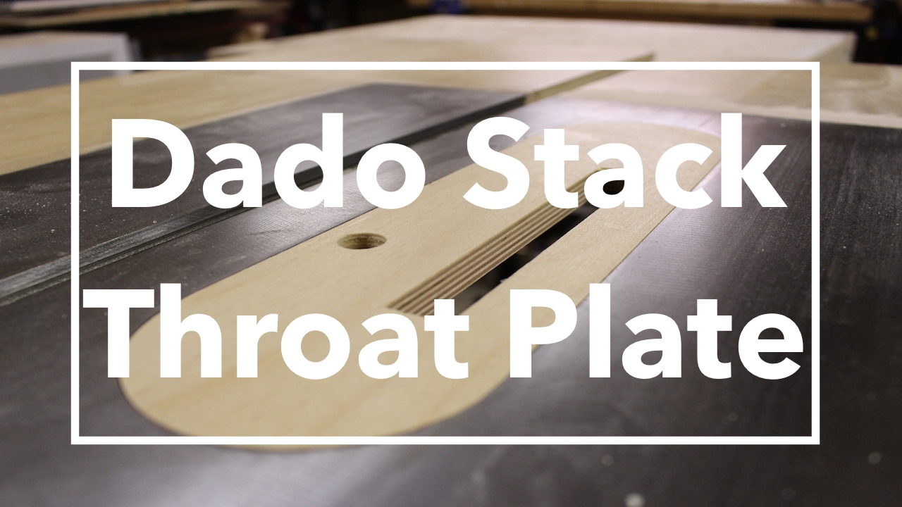 How to make a dado stack throatinsert plate youtube how to make a dado stack throatinsert plate greentooth Image collections