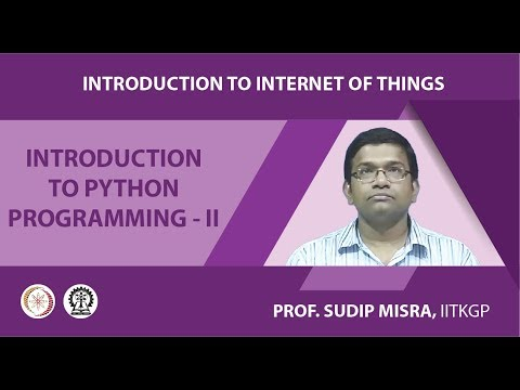 Introduction to Internet of Things (Prof  Sudip Misra, IIT
