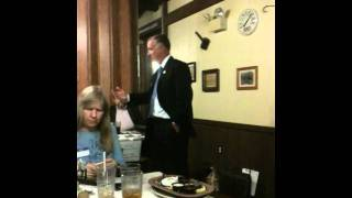 Republican candidate John Vernon fields questions