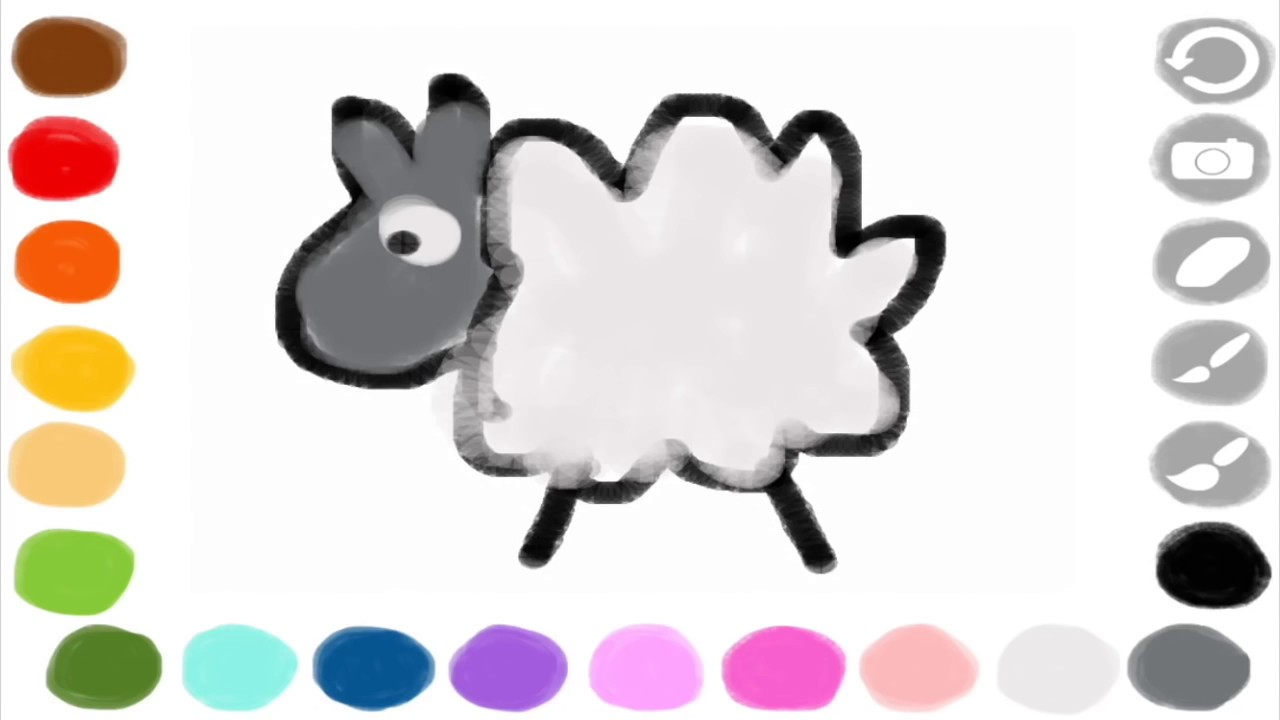 scribbaloo paint a free painting app for younger kids with watercolour painting effect - Kids Paint Free