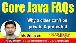 Why a class can't be private & protected ? || Core Java FAQs Videos