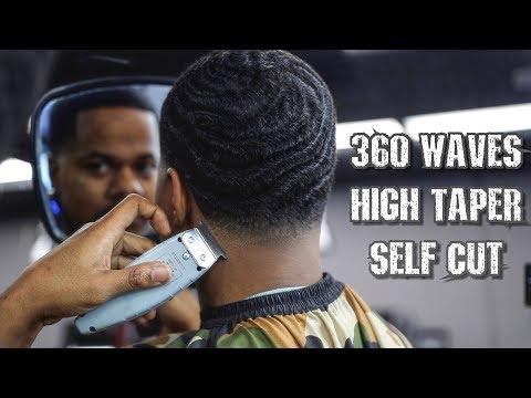 360 WAVE  SELF CUT HIGH TAPER TUTORIAL
