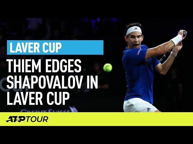 Thiem Defeats Shapovalov In Match 1 | Laver Cup | ATP