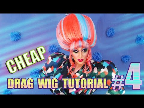 Cheap D.I.Y Drag Wig Tutorial #4 ~ Wire Cage Beehive