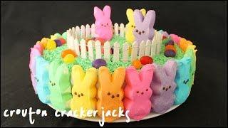 Rainbow Peeps Cake!! How To Make A Rainbow Peep Cake For Easter