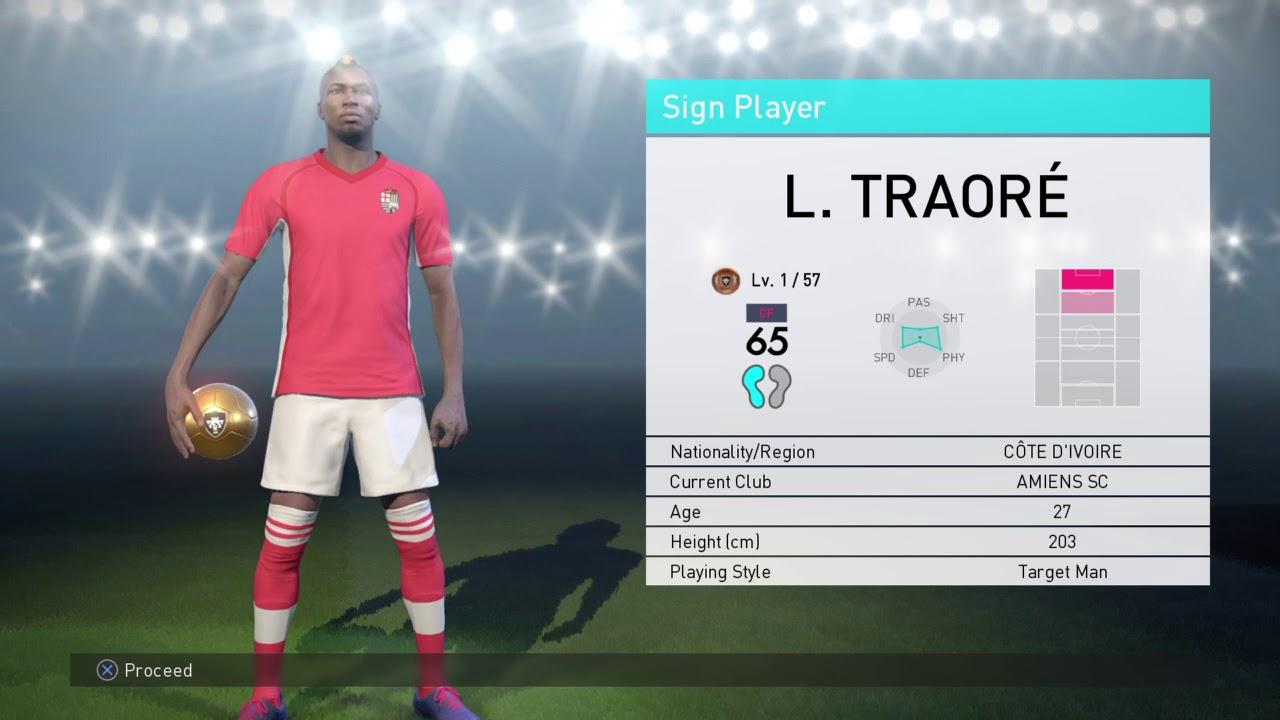 Lacina Traore Pro Evolution Soccer 2018 Youtube