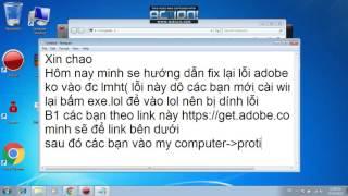 FIX LOI Adobe Air KHI VAO LMHT