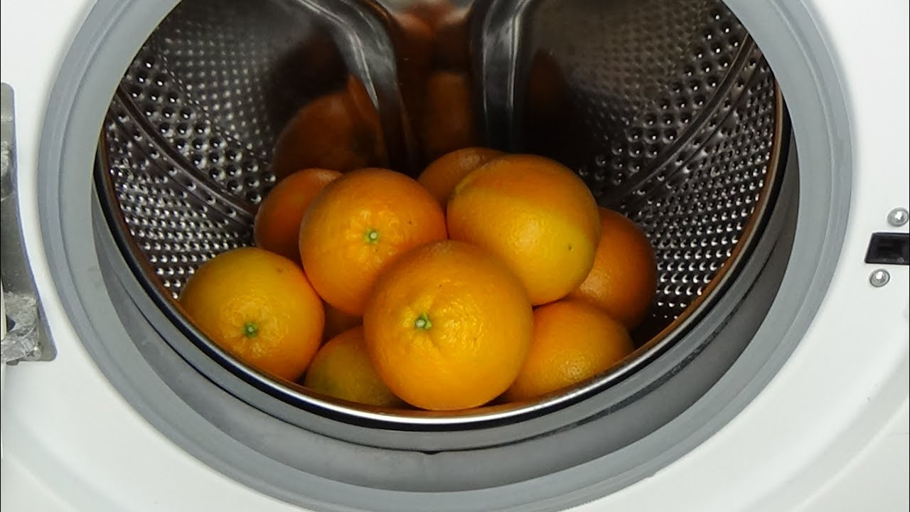 experiment test oranges in a washing machine jus d. Black Bedroom Furniture Sets. Home Design Ideas