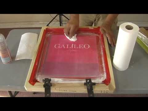 HOW TO CLEAN INK FROM A SILK SCREEN