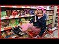 Cam Markette, Market Arabası ile Abur Cubur Alışverişi Yaptık l Eğlenceli Çocuk Videosu