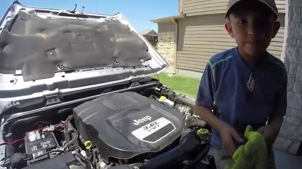 2013 jeep wrangler oil change how to - youtube