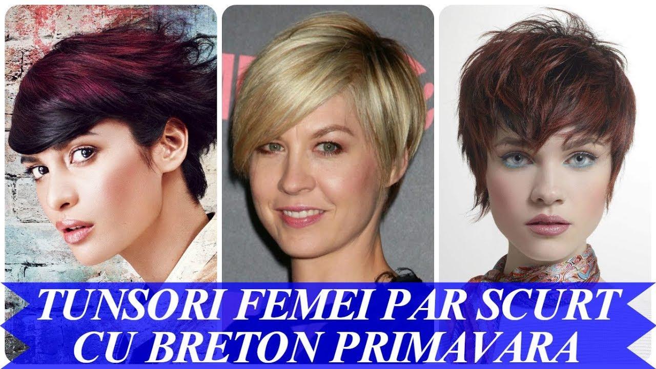 Modele De Tunsori Femei Par Scurt Cu Breton Primavara 2018 Youtube