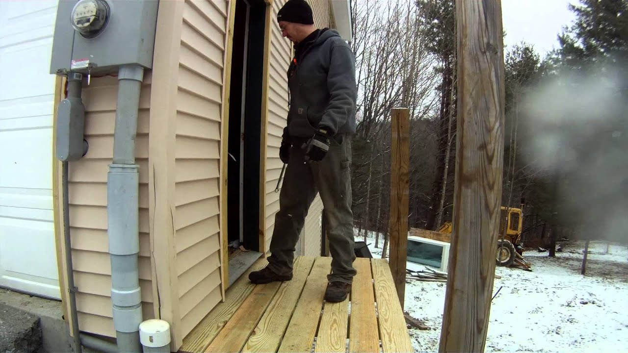 A Porch To Get Into The Garage Man Door   84   My DIY Garage Build HD Time  Lapse   YouTube
