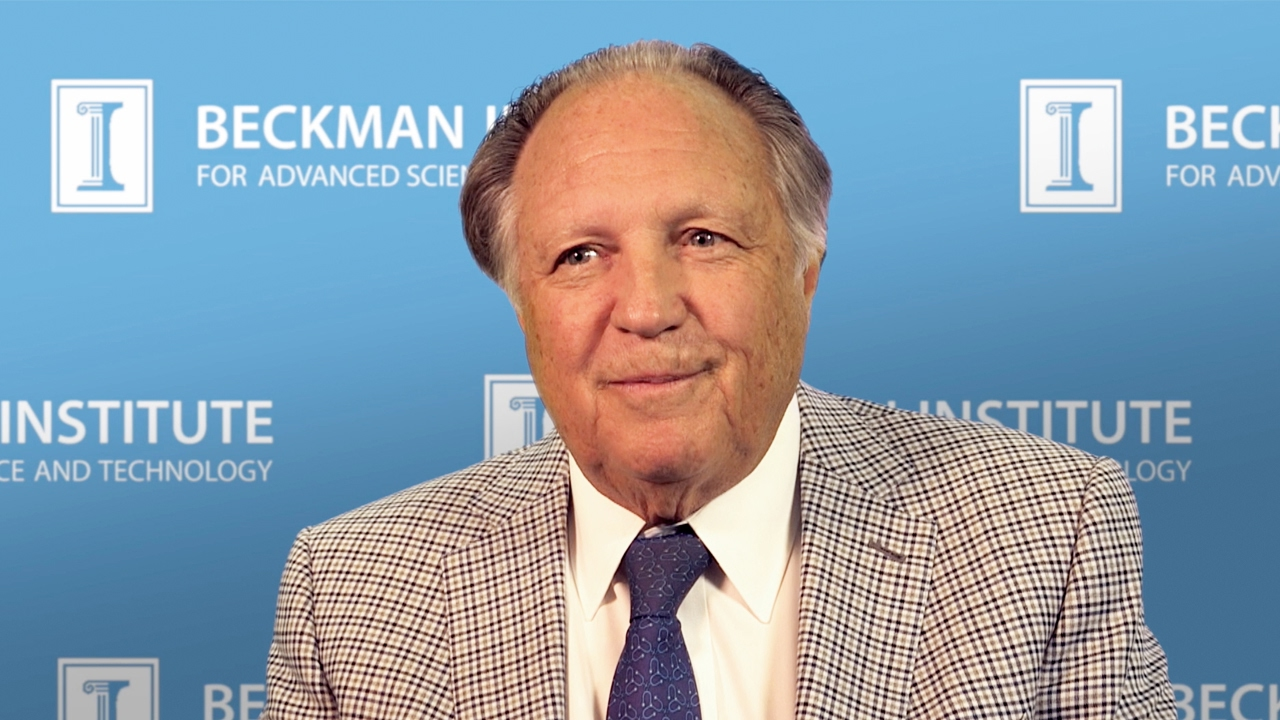 Watch Oral Histories: Arnold Beckman, Ted Brown, and the Beckman Institute (Wescombe)