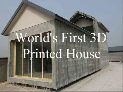 World's First 40D Printed Houses YouTube Custom Winsun Decoration Design Engineering Co