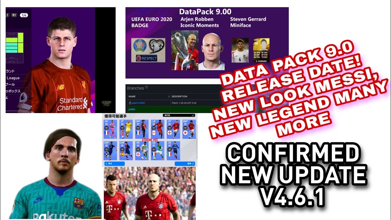 PES 2020 NEW DATA PACK 9.0 UPDATE!!NEW UPDATE MOBILE V4.6.1 CONFIRMED DATE, NEW FACE CHANGES, LEGEND