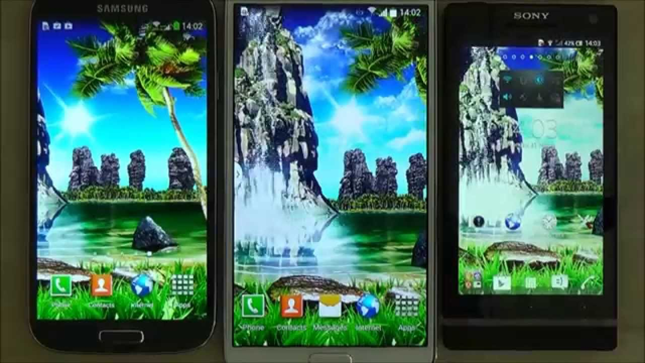Tropical 3D Waterfall Live Wallpaper With Sound Effect For Android