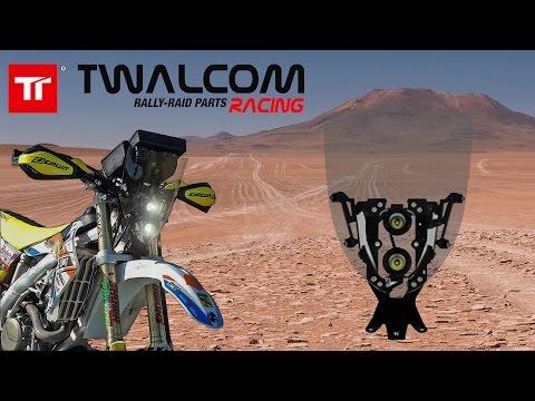 Twalcom TT® - Rally Kit E-Light  - Maschera, scudo con doppio faro LED per moto fuoristrada.