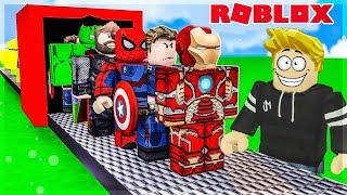 J'AI LA PLUS GRANDE BASE DE SUPER HEROS ! Roblox TEAMS 4 Player Superhero Tycoon