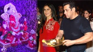 Baixar Salman Khan And GF Katrina Kaif Doing Pooja TOGETHER At Ganpati Celebrations 2018 INSIDE VIDEO