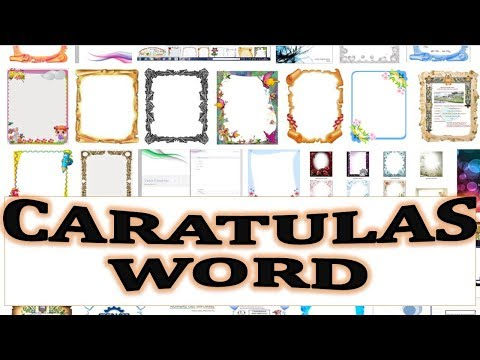 Caratula en WORD. ¿Como hacer una caratula con bordes personalizados, imagenes y letras de WorArt?