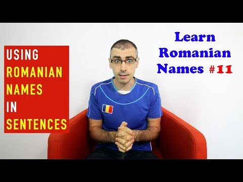 HOW TO USE ROMANIAN NAMES IN SENTENCES | Learn Romanian Names #11