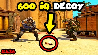 600 IQ DECOY or 1 IQ team? - CS:GO BEST ODDSHOTS #436