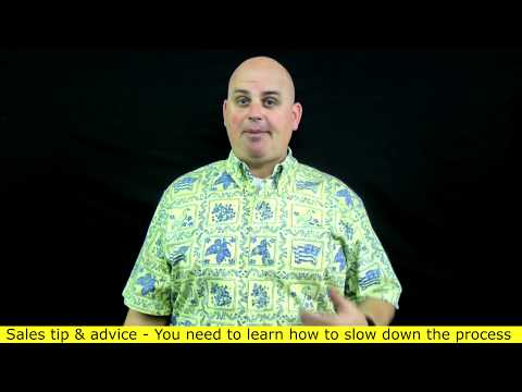 How to keep your cool with tough buyers - Slow down the sales process (3 of 7) Scott Sylvan Bell