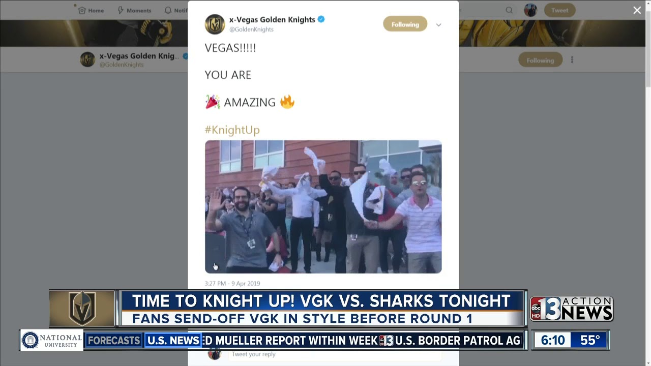 VGK headed to San Jose for first playoff game