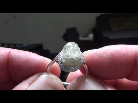 9ct Raw Uncut Diamond ring
