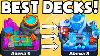 Clash Royale BEST ARENA 5 ARENA 8 DECKS UNDEFEATED | BEST ATTACK STRATEGY GAMEPLAY TIPS F2P PLAYERS