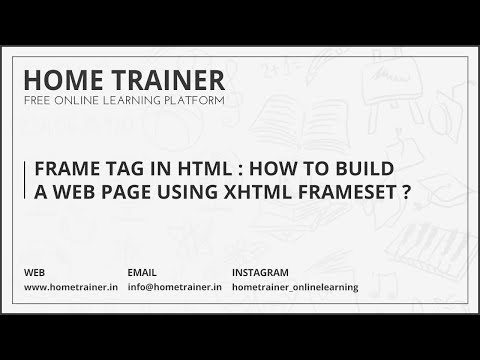 Frame Tag In HTML : How To Build A Web Page Using XHTML Frameset ???