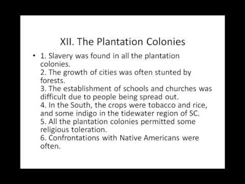 AP US HISTORY - Chapter 02 - The Planting of English America outline part 2
