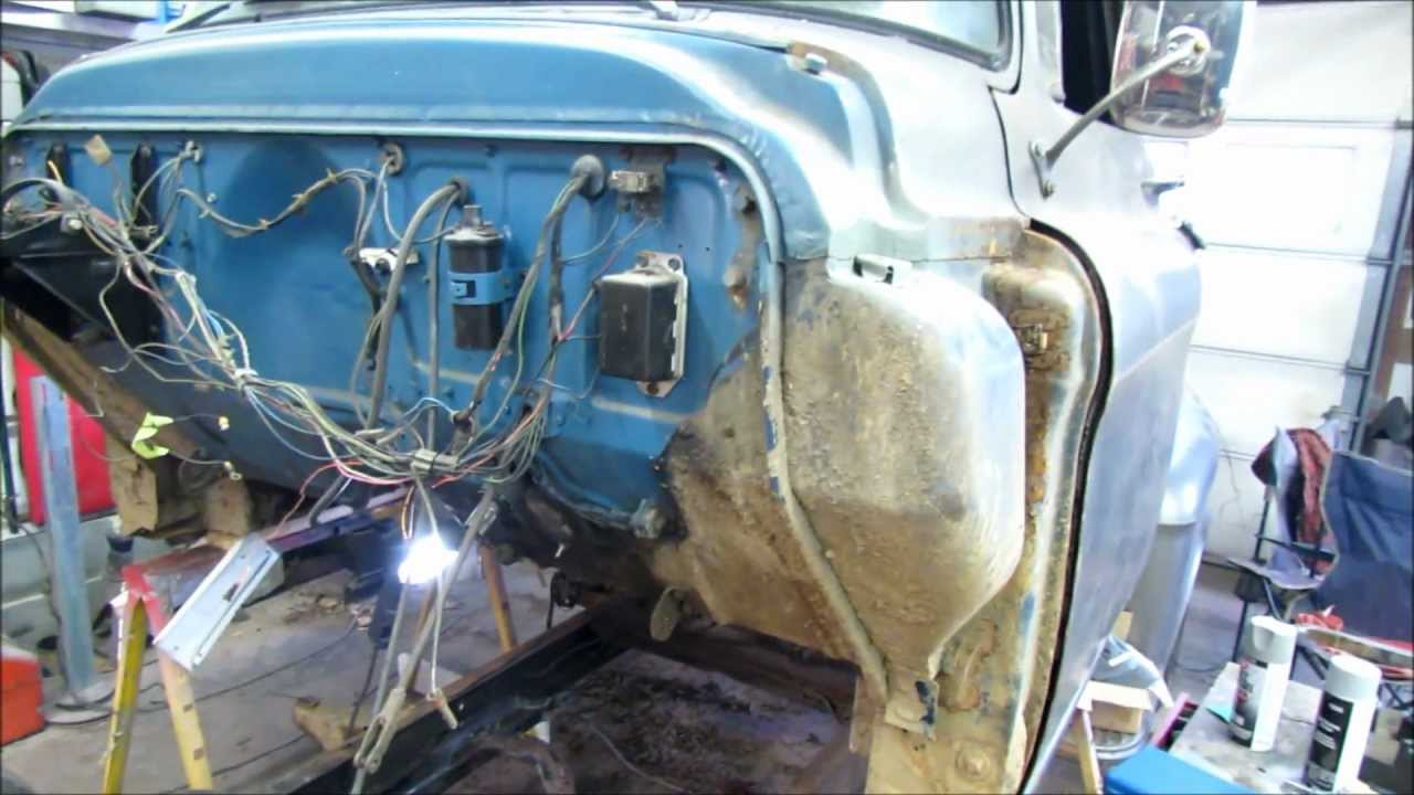 Separating The Cab From Frame 55 Chevy Truck Youtube 1957 Lifted