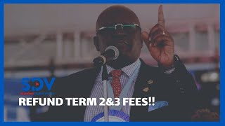 Education Cabinet Secretary Magoha says term 2 & 3 school fees  should be refunded to parents.