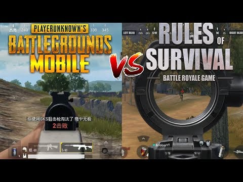 PUBG Mobile vs Rules of Survival - Mobile Battle Royale Gameplay Comparison (iOS/Android)
