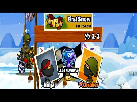 BOSS LEVEL -  Hill Climb Racing 2 - Ninja vs Soldier Outfit MOTOCROSS First Snow